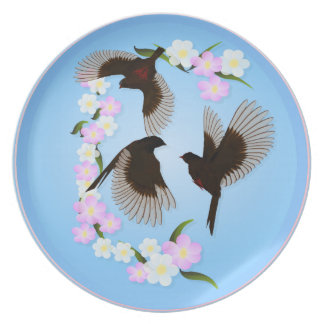 Three Sparrows plate