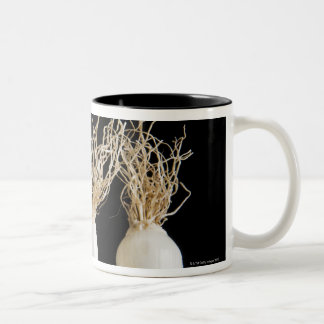Three spring onions Two-Tone coffee mug
