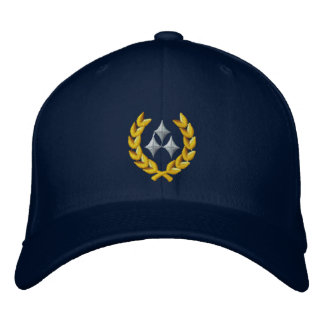 Three Star General Embroidered Hats