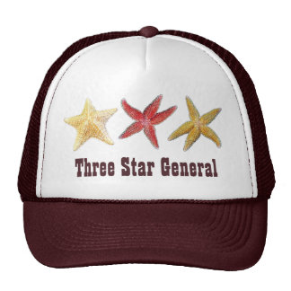 Three Star General Starfish Hat
