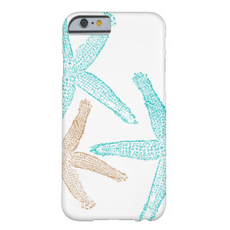 Three Starfish Teal and Tan Barely There iPhone 6 Case