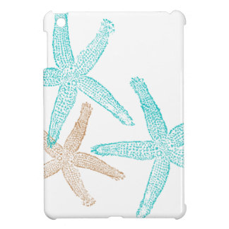 Three Starfish Teal and Tan Cover For The iPad Mini