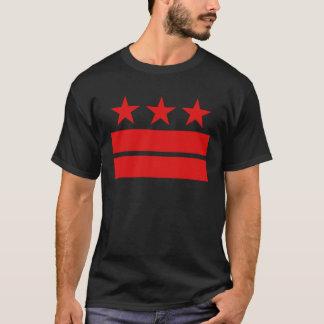 Three Stars and Two Bars Black T-shirt