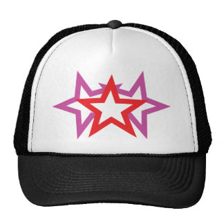 three stars icon trucker hat
