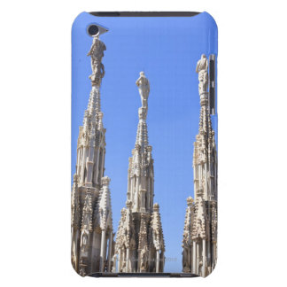 Three statues towers on the Duomo of Milan iPod Case-Mate Case