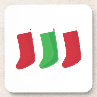 Three Stockings Beverage Coasters