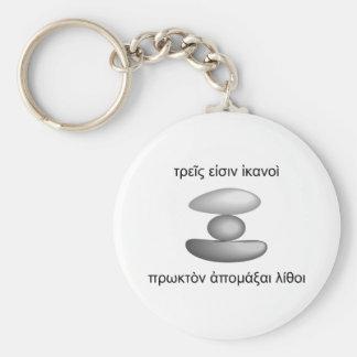 Three Stones Basic Round Button Keychain