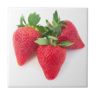 Three strawberries tile