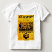 Three Strikes Two Step 1902 Vintage Sheet Music Baby T-Shirt