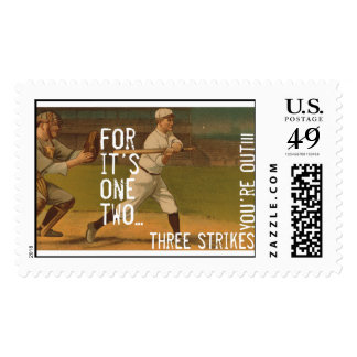 Three Strikes You're Out Postage Stamp