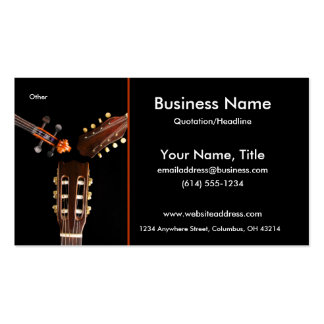 Three String Instruments Business Cards