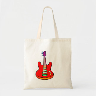 Three Stringed Bass Guitar Image Graphic Tote Bag