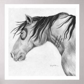 Three Stripe Pony Poster