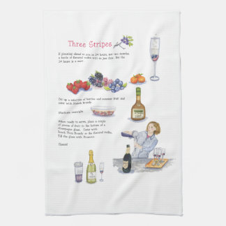 three stripes cocktail bar towel