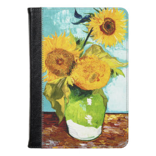 Three Sunflowers By Van Gogh Fine Art Kindle Case at Zazzle