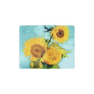Three Sunflowers by Van Gogh Fine Art Pocket Moleskine Notebook