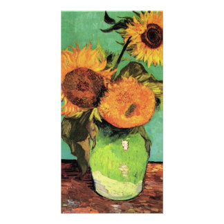 Three Sunflowers in a Vase by Vincent van Gogh Card