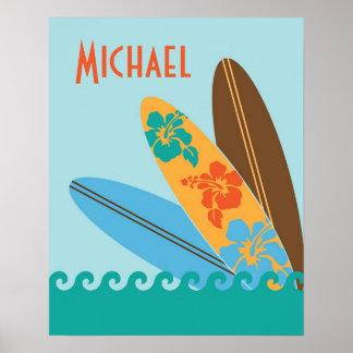 Three Surfboards Art Print - Large