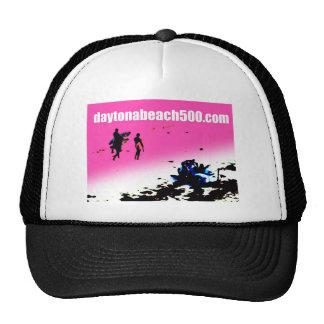 Three Surfers Walking By A Parked Trike Trucker Hats