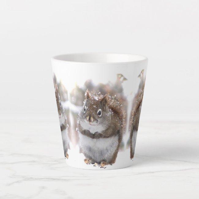 Three Sweet Squirrels Latte Mug