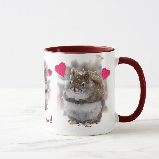 Three Sweet Squirrels Valentine Mug