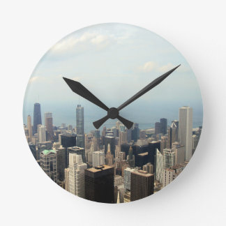 Three Tall Buildings Viewed From Sears Tower Clock