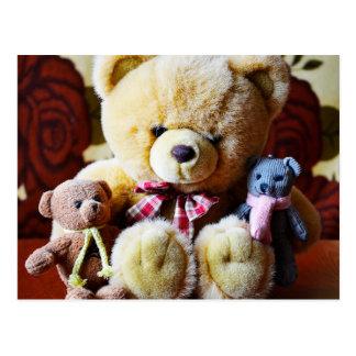 Three Teddy Bears postcard
