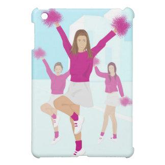 Three teenage cheerleaders holding pom poms 2 iPad mini covers