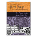 Three Things to Remember While Driving Greeting Card