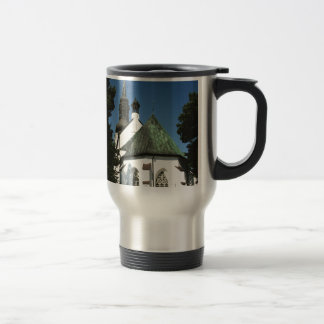 Three Tiered Old World Church, Weathered Copper Travel Mug
