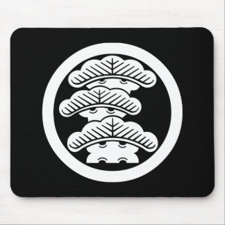 Three-tiered pine L in circle Mouse Pad