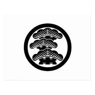 Three-tiered pine L in circle Postcard