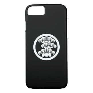 Three-tiered pine R in circle iPhone 7 Case