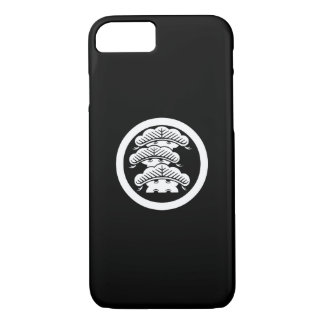 Three-tiered pine with arashi L in circle iPhone 7 Case