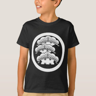 Three-tiered pine with arashi L in circle T-Shirt