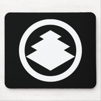 Three-tiered rhombuses in circle mouse pad