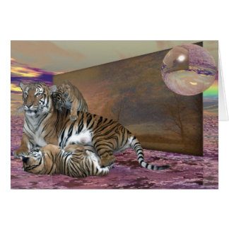 Three Tigers Stationery Note Card
