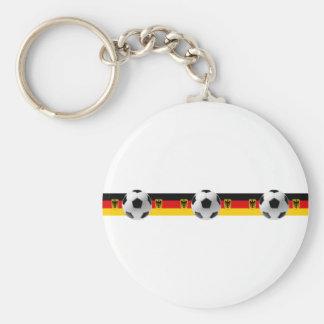 Three times champions Germany Soccer ball flag Keychains