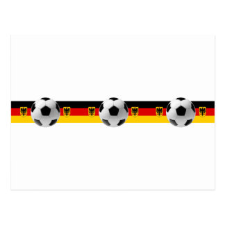 Three times champions Germany Soccer ball flag Post Card