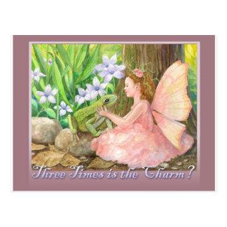 Three Times is the Charm Postcard