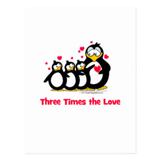 three times the love post cards