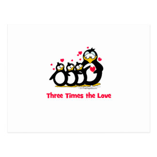 three times the love postcards