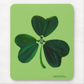 """""""Three times three, and so on"""" - Clover Fractal Mouse Pad"""