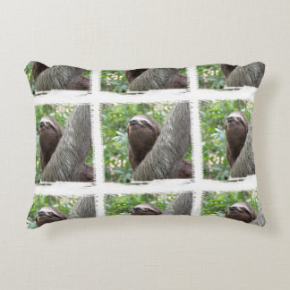 Three Toed Sloth Accent Pillow