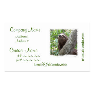 Three Toed  Sloth Business Card