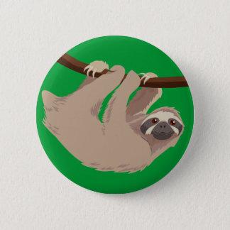 Three Toed Sloth Pinback Button