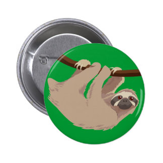 Three Toed Sloth Pinback Button