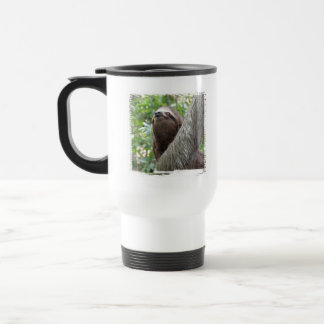 Three Toed  Sloth Plastic Travel Mug