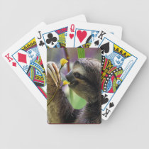Three-Toed Tree Sloth Bicycle Playing Cards
