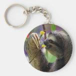 Three-Toed Tree Sloth Keychain